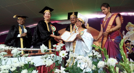 Doctorate recieved by Ms.Madhu Singhal